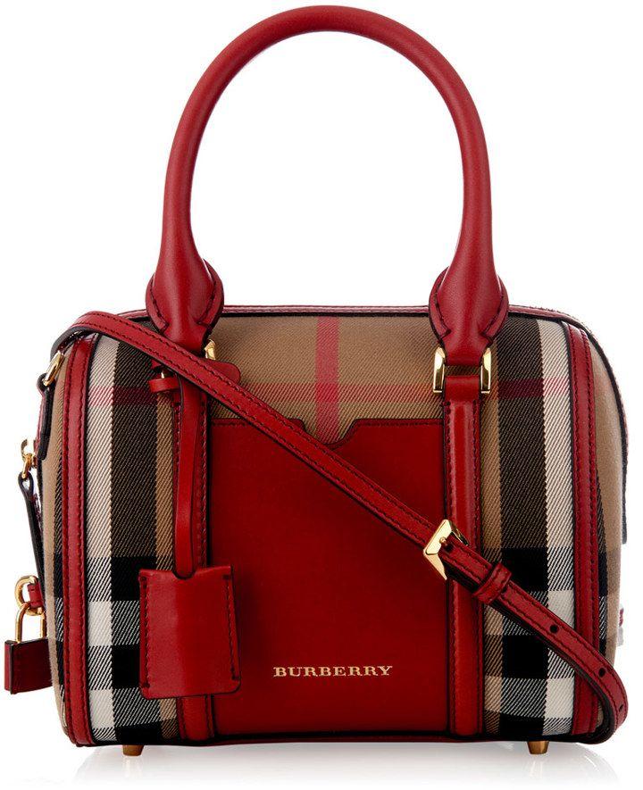 Farb-und Stilberatung mit www.farben-reich.com - Burberry London Alchester  mini checked bowling bag fb74c1f860515