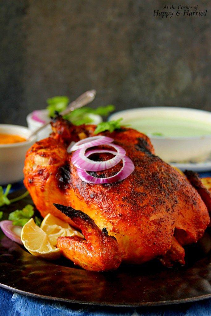 Whole Roasted Tandoori Chicken #tandoorichicken