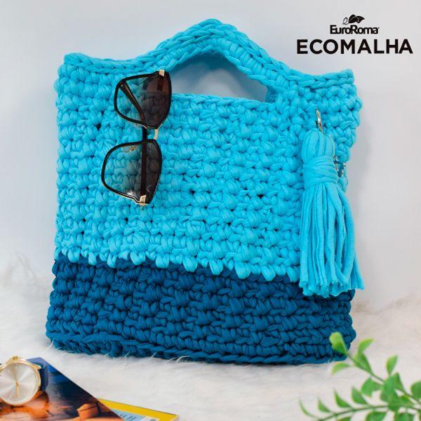 Maxi Bolsa de Crochê Céu Azul – EuroRoma EcoMalha – Blog do Bazar Horizonte