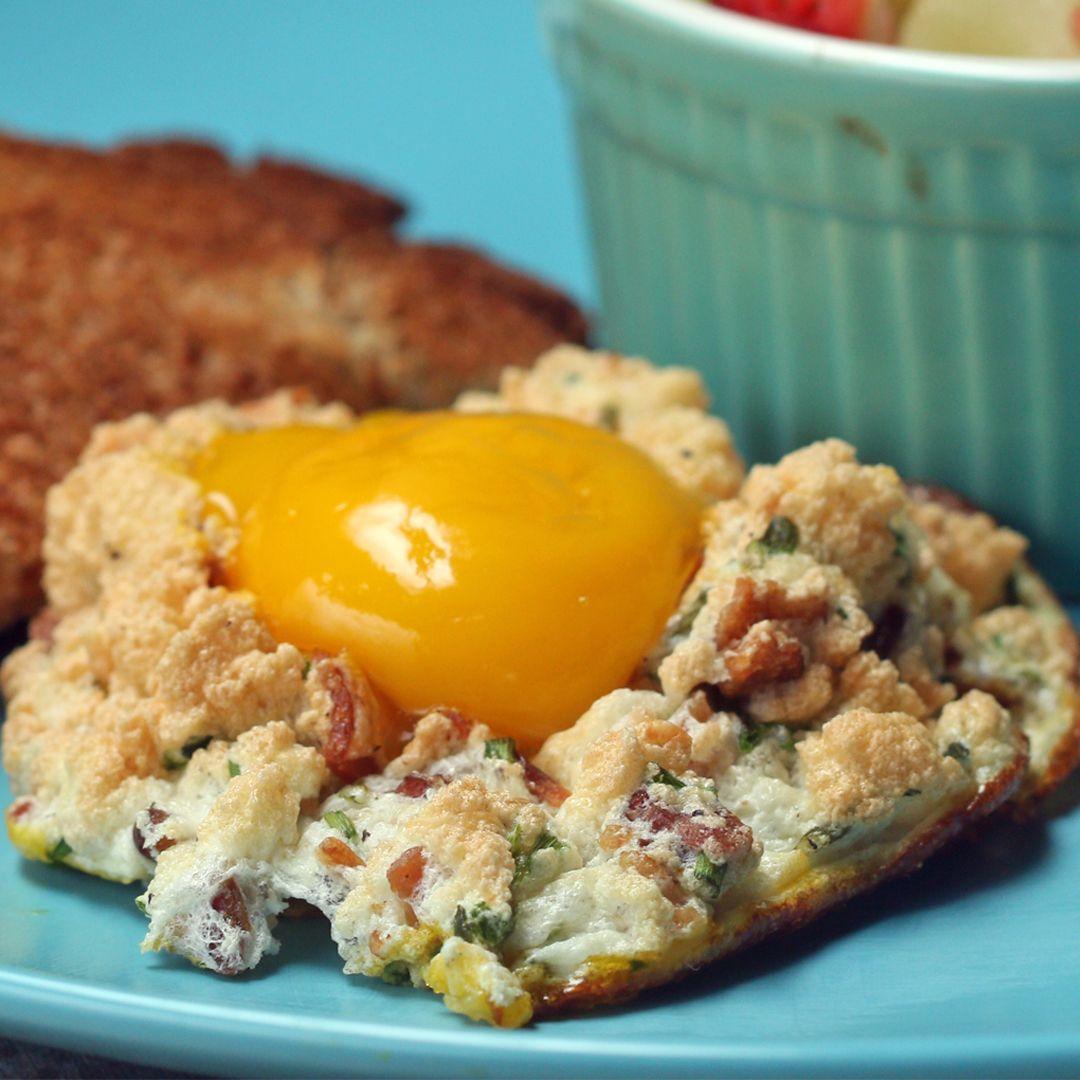 Eggs In A Cloud Recipe by Tasty