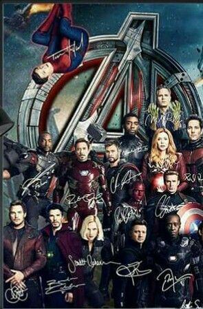 Avengers Infinity War signature Movie Art Silk Poster 12x18 24x36