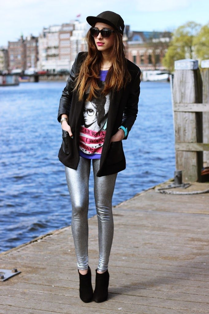 23 Ways to Wear Metallic Silver This Fall