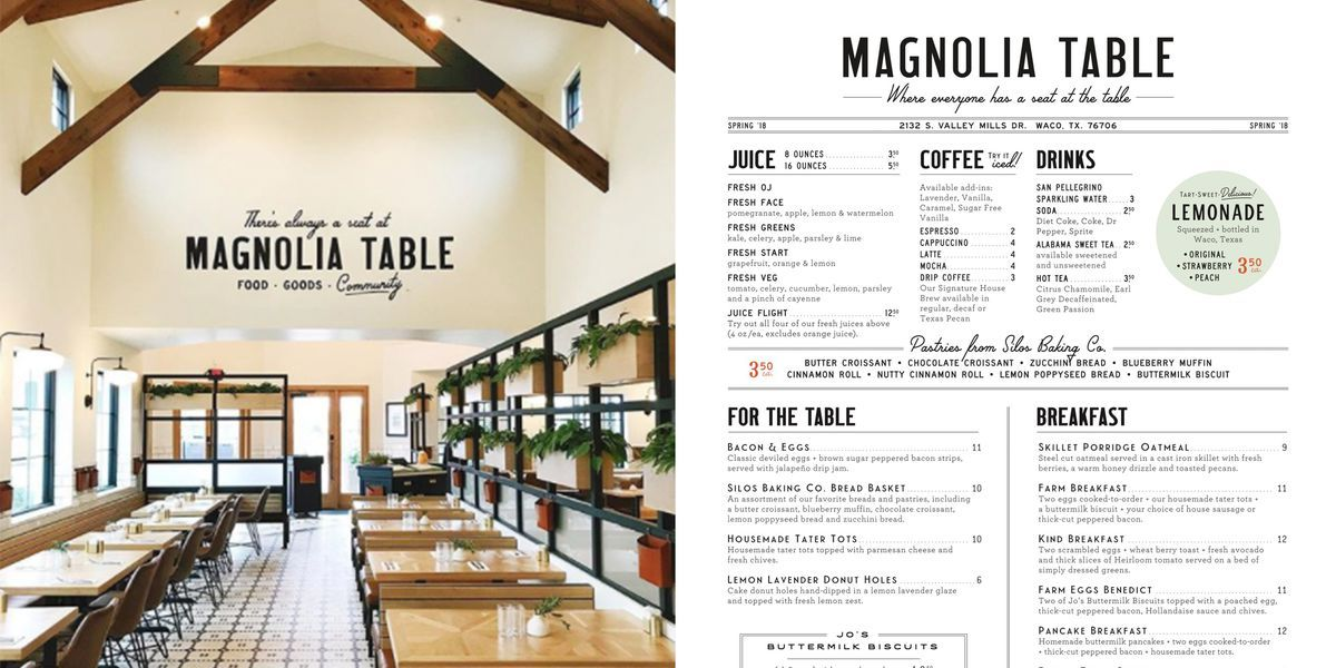 Chip And Joanna S New Restaurant Is Finally Open Magnolia Table Restaurant Magnolia Table Magnolia Joanna Gaines