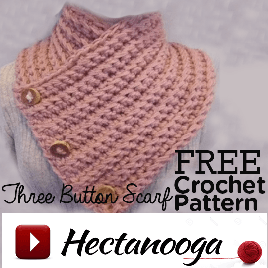 Heres A Sweet And Easy 3 Button Scarf Crochet Pattern To Try You