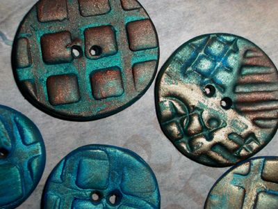 raku circles, clay