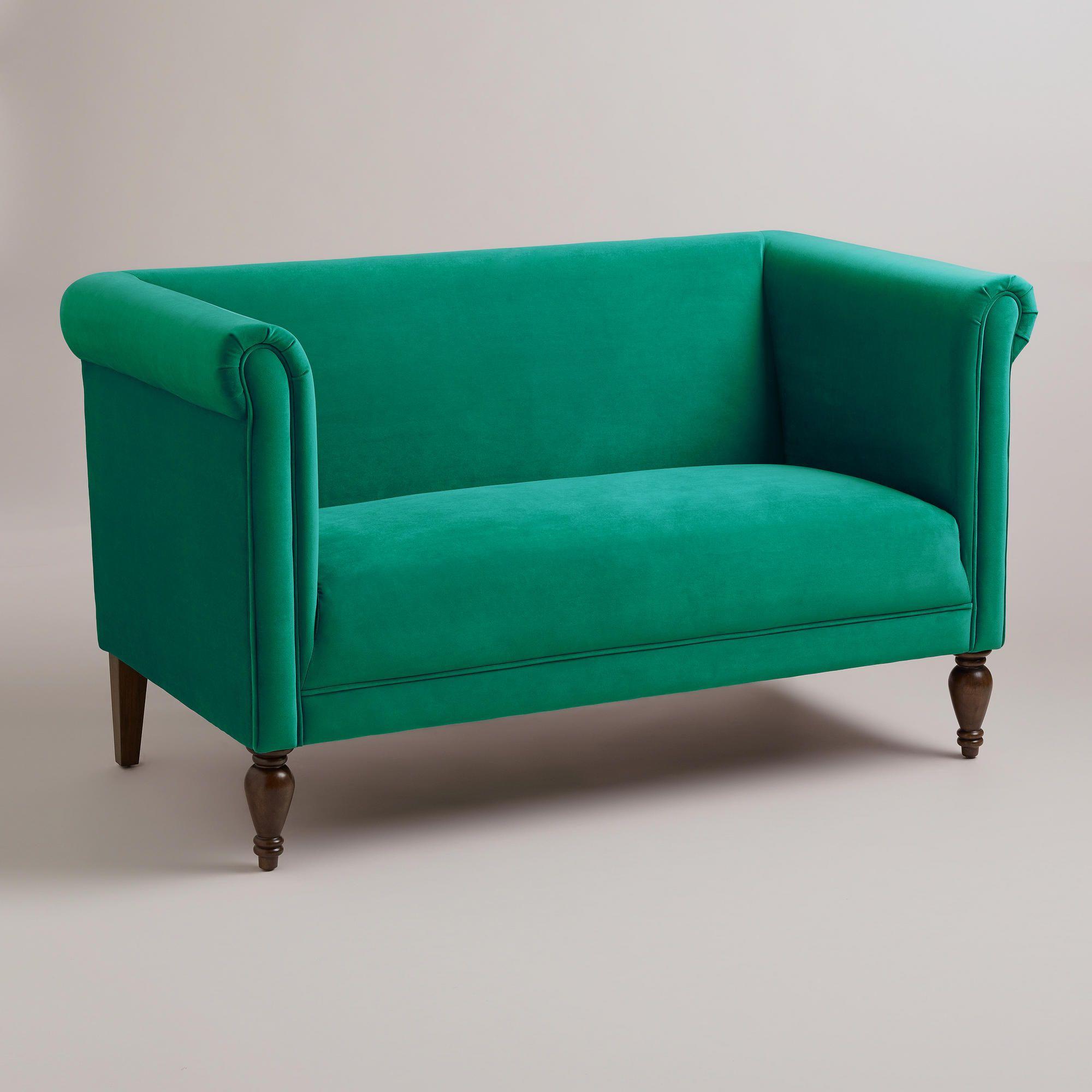 Cost Plus Furniture Sale: Home Decor - Emerald Marian Loveseat