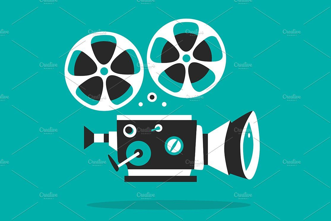 Set Of Retro Movie Projectors Movie Projector Film Projector Cartoons Vector