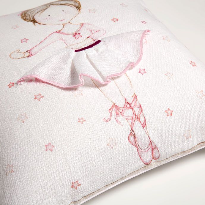 Funda de coj n estampado bailarina cojines cama zara for Cama kawaii