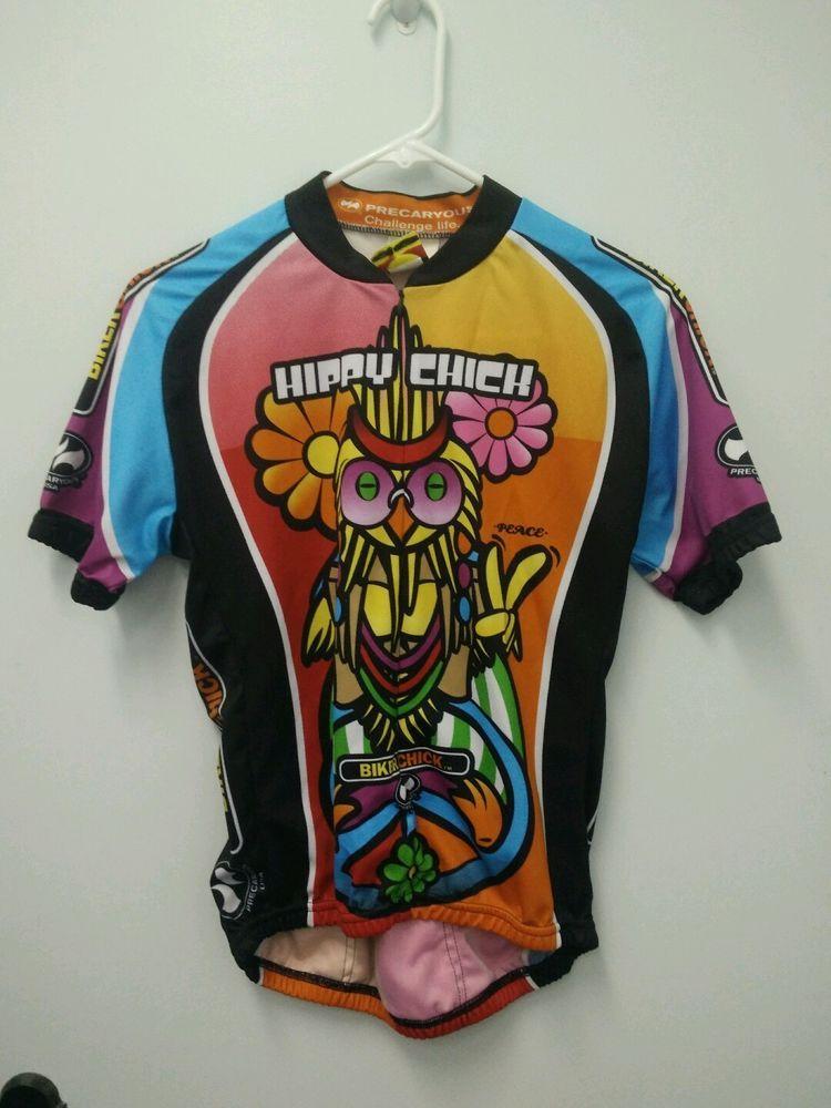 World Jerseys Women s Hippy Chick Biker Chick Women s Cycling Jersey Lg.   b176f467b