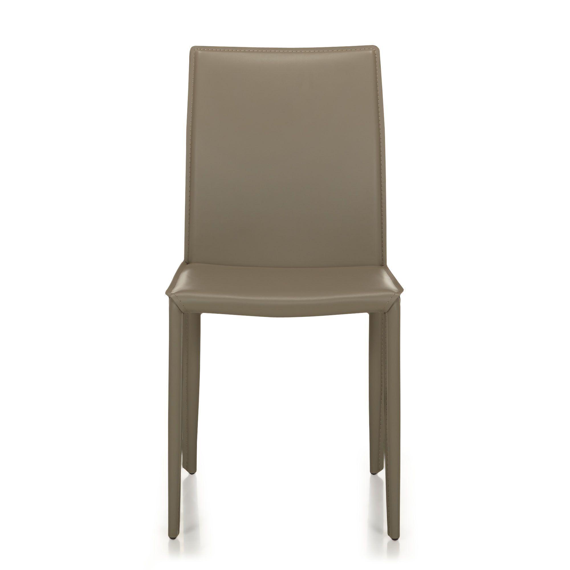 Chaise En Croute De Cuir Taupe
