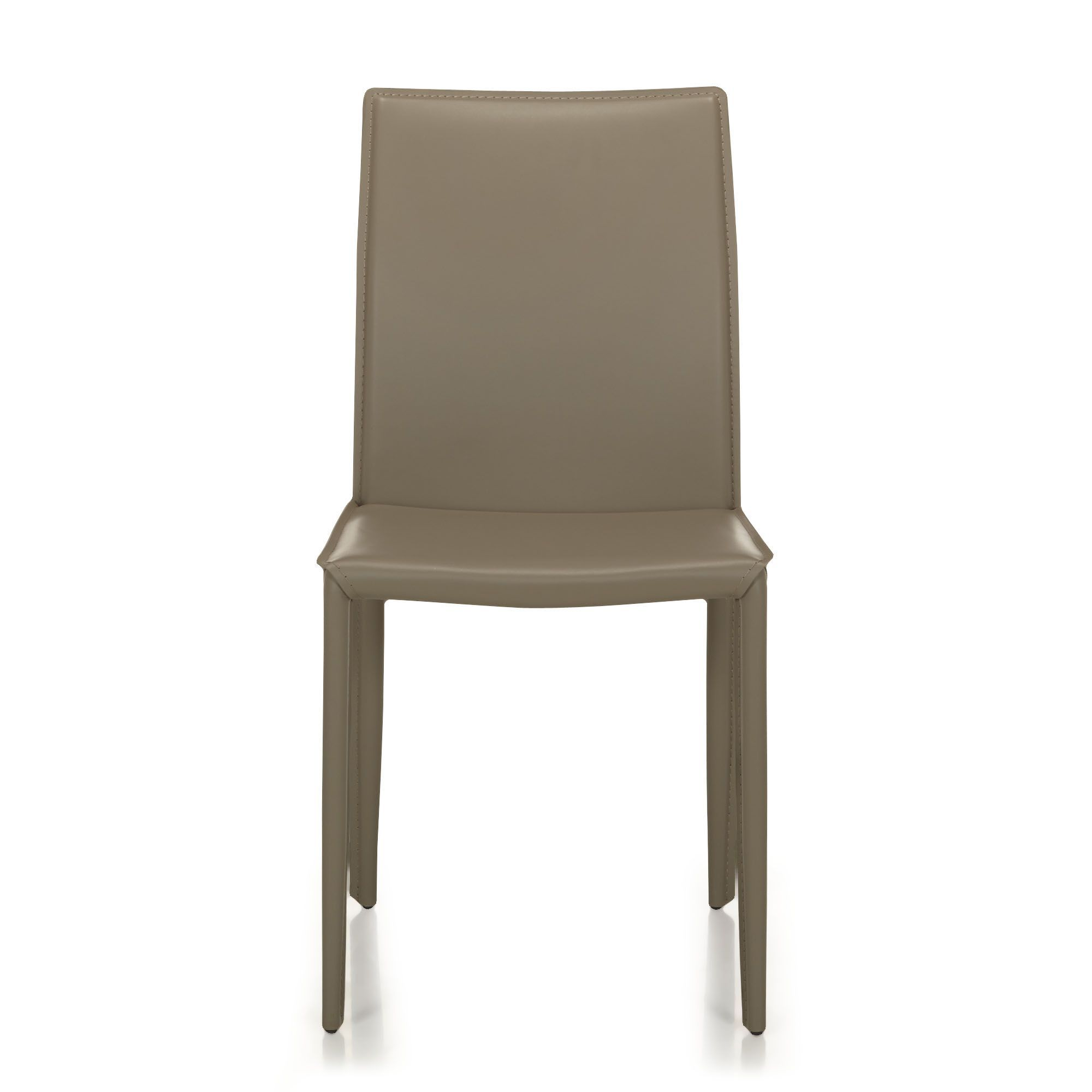 Chaise En Croute De Cuir Taupe Taupe Andrew Chaises Tables Et
