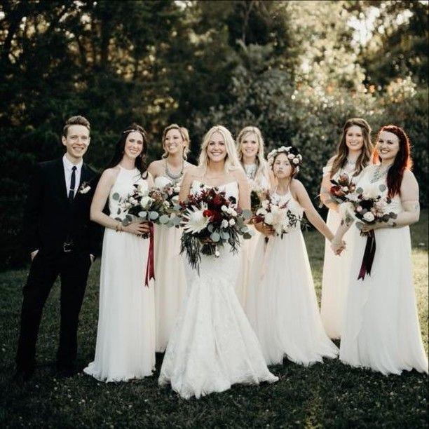 502ddcd6b8 Pretty in white  dessy  dessygroup  dessybridesmaids  realwedding   weddinginspo  bridesmaids  flowerinspo  bridetobe  bridetribe   bridalshower   ...