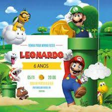 Image Result For Convite Mario Bros Mario Party Ideas Cumpleaños