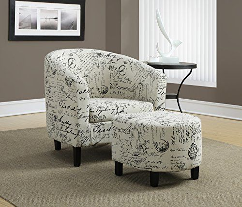Monarch Specialties Vintage French Fabric Accent Chair And
