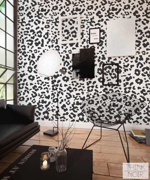 Animal Print Removable Wallpaper Peel And Stick Leopard Print Pattern Wallpaper Modern Leopard Spot Wallpaper Living Room Removable Wallpaper Leopard Wall