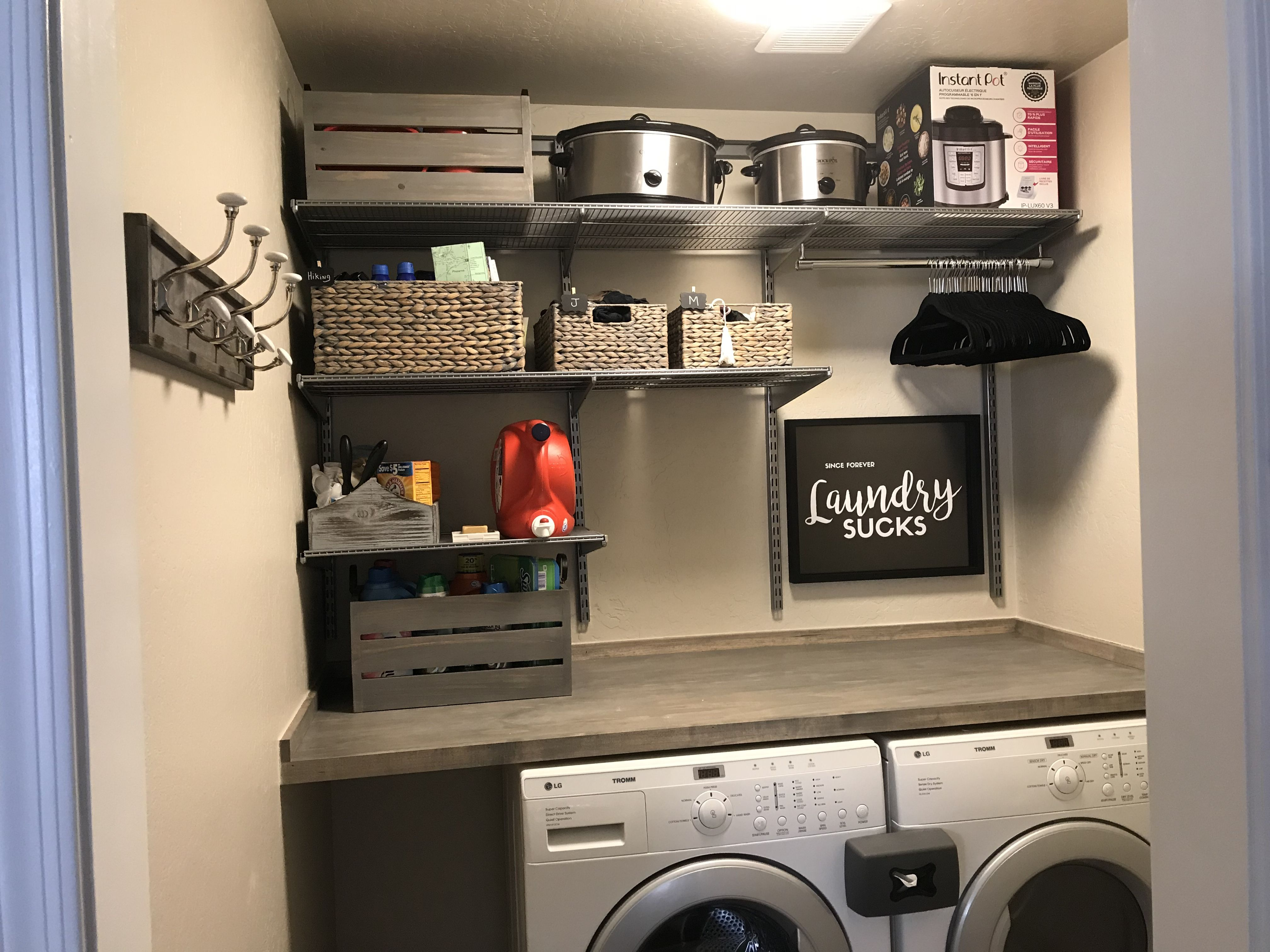 Laundry Room Complete Elfa The Container Store Laundry Room