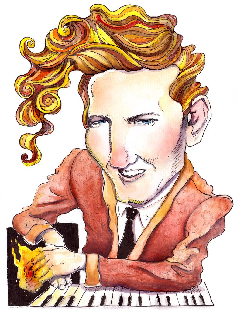 Illustration In 2020 Rock Roll Artists Jerry Lee Lewis Funny