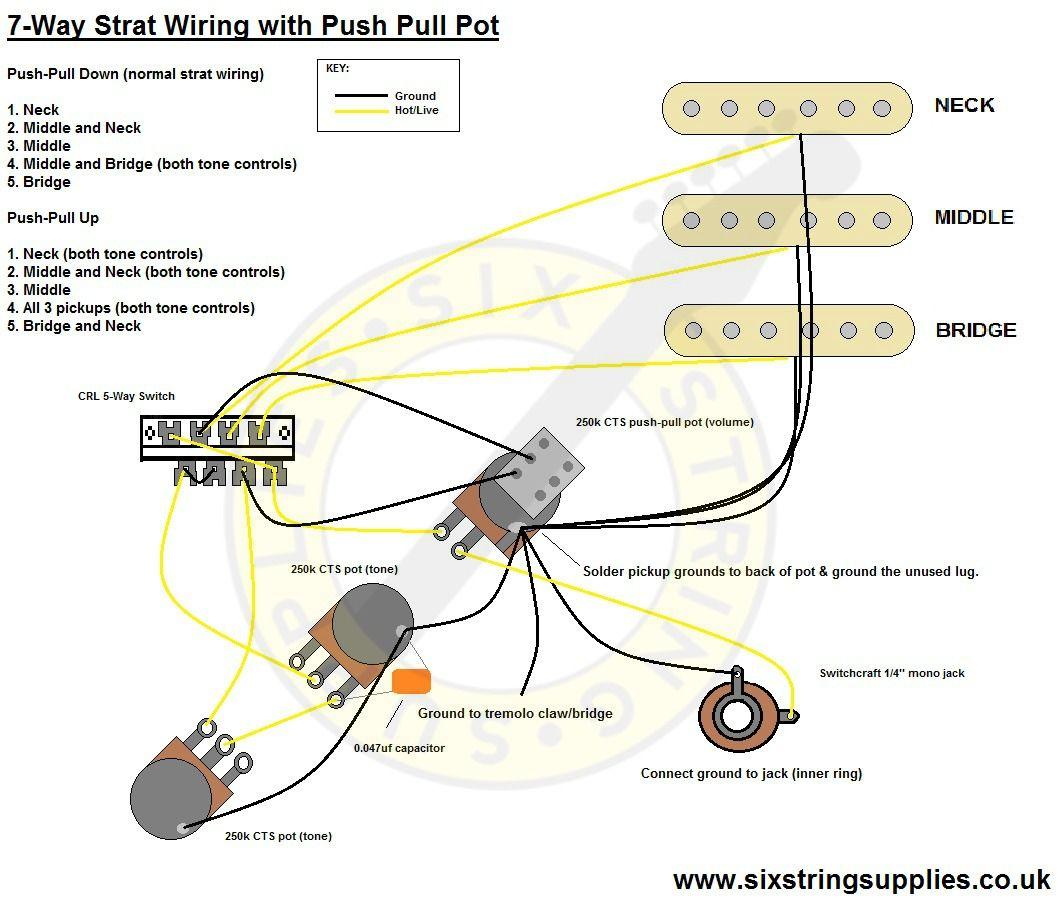7Way Strat Wiring Diagram | guitar wiring in 2019