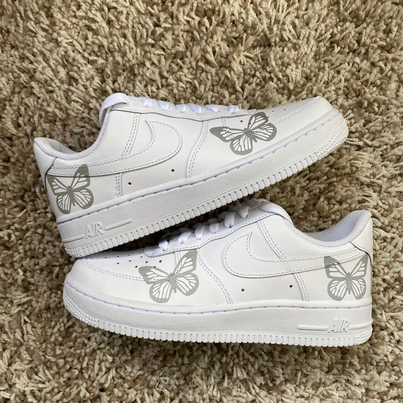 Reflective Monarch Butterfly Nike Air Force 1 FAST FREE