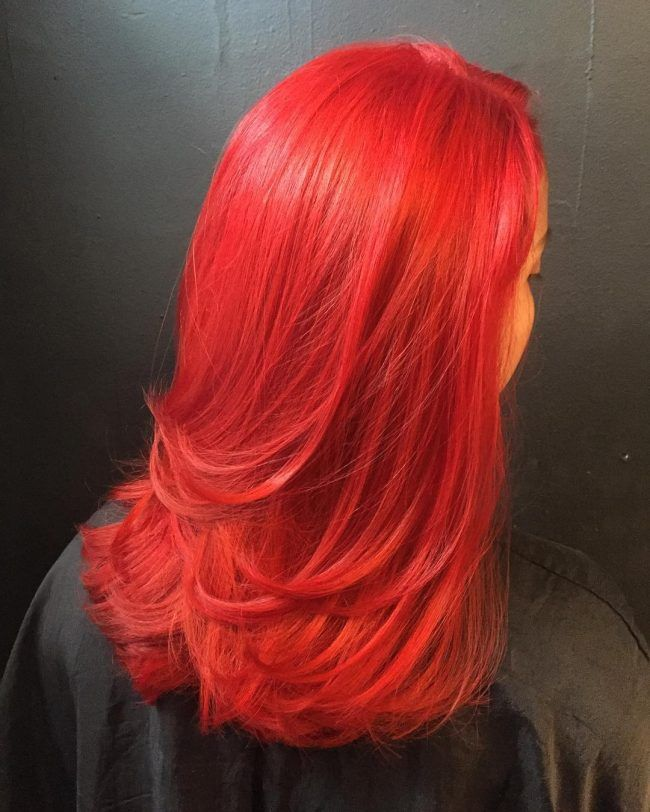 Fireenginered Hair In 2018 Pinterest Fire Engine Bright Red
