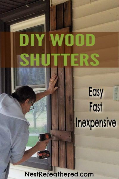 Photo of DIY Board and Batten Shutters – Easy, Fast and Inexpensive – Make your own cedar…