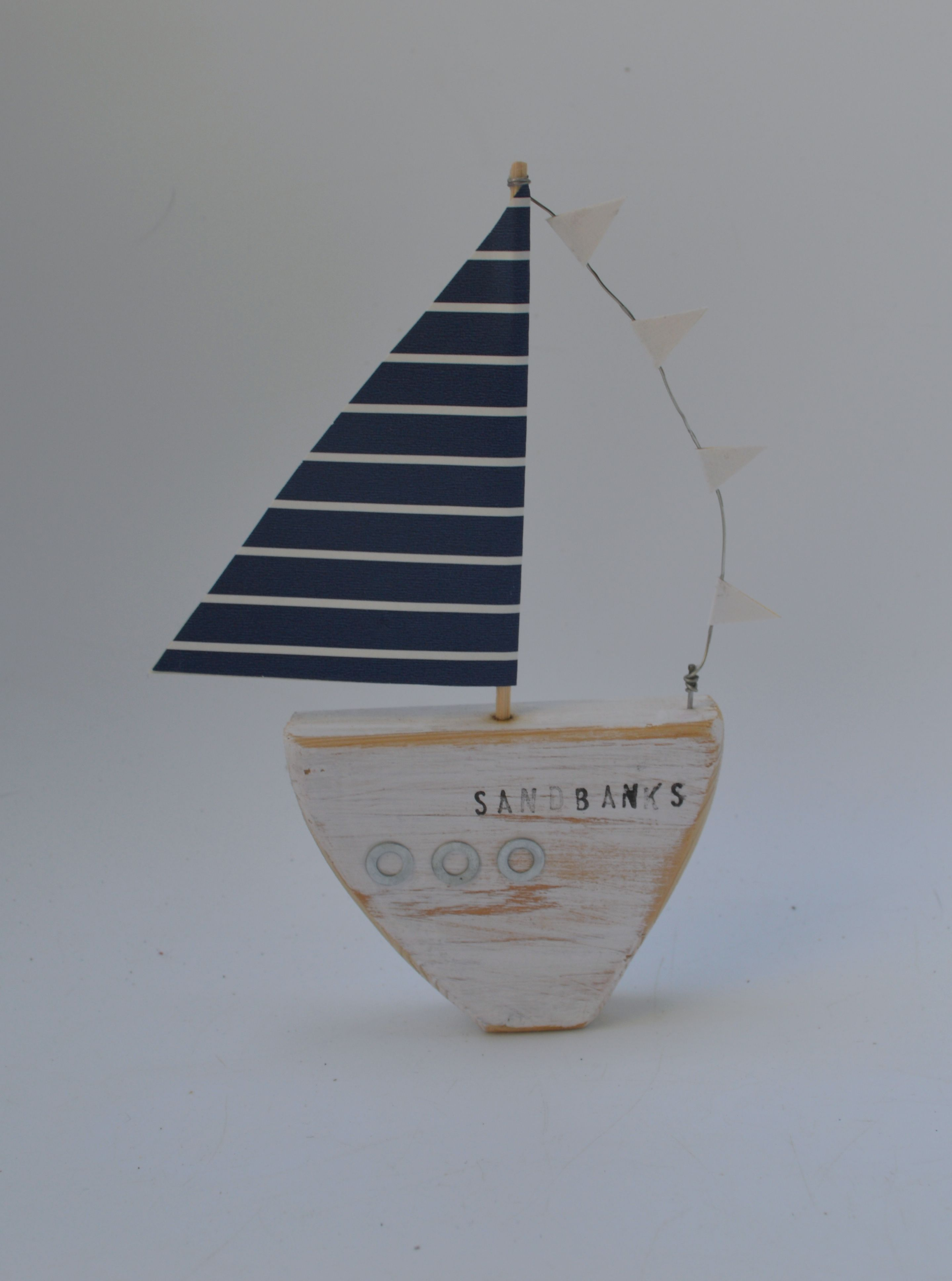 Upcycle art creations sailboat.  Find me on fb