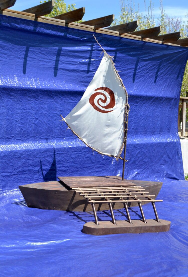 Moana S Boat Blissful Charm Moana Boat Moana Birthday