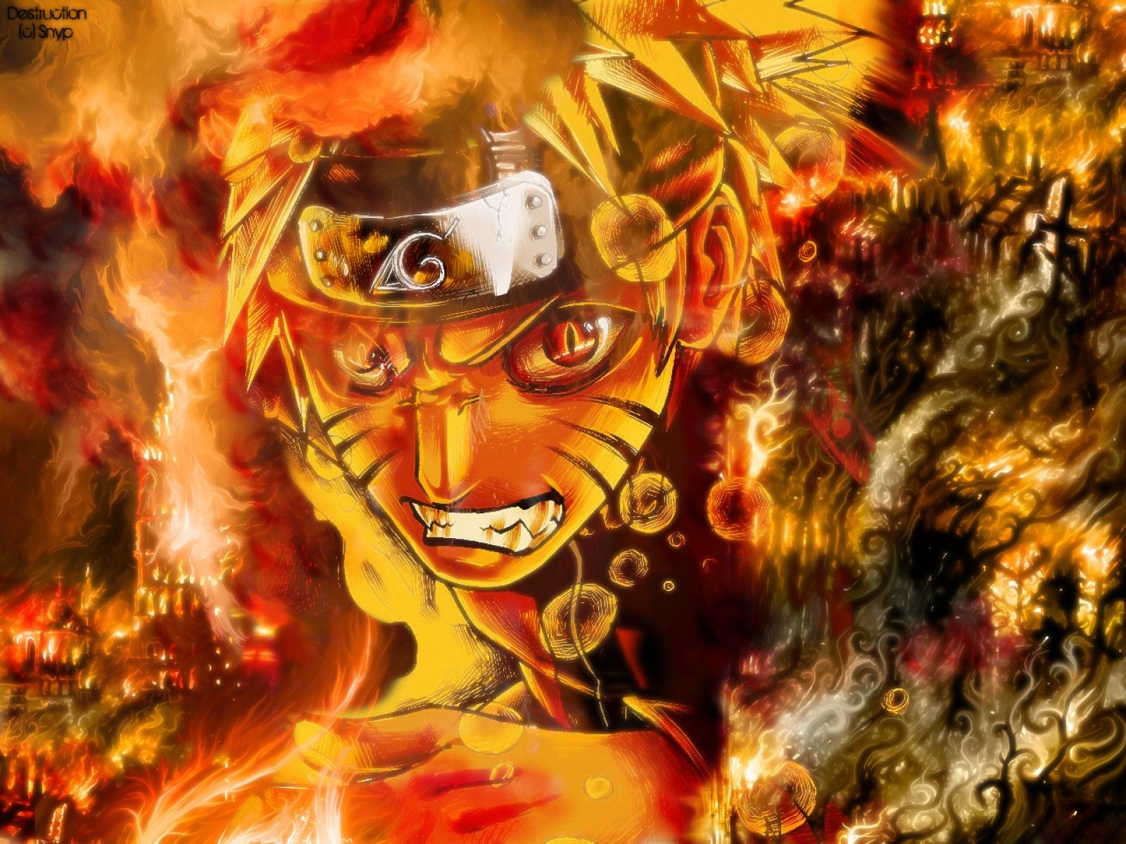 Naruto And The Nine Tailed Fox Wallpaper