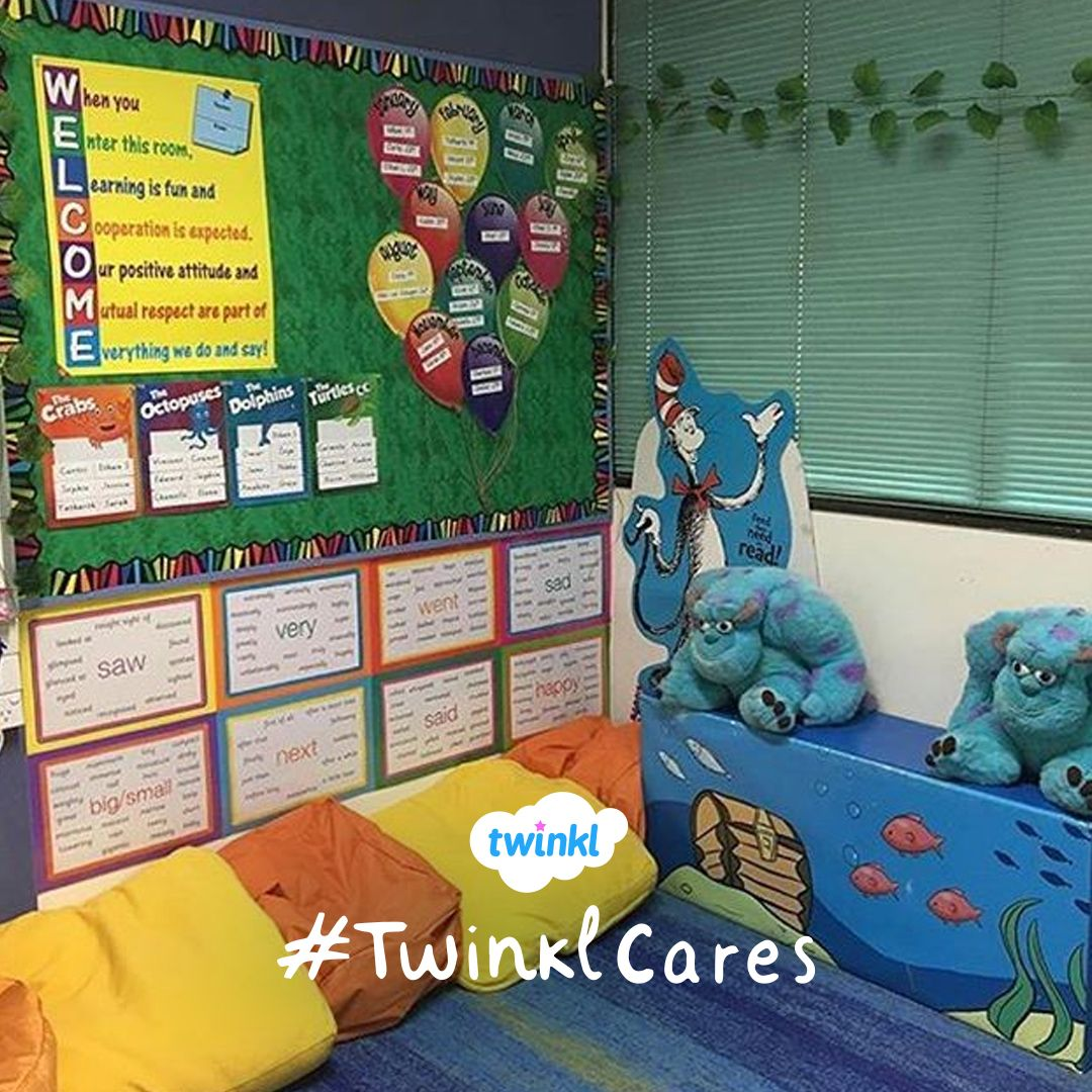 Love The Idea Of A Word Wall In A Reading Corner With