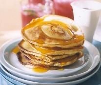 Seared Peach Pancakes by Lane Southern Orchards. Perfect for chilly days!
