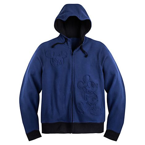 Mickey Mouse Zip Fleece Hoodie for Adults | Disney Store