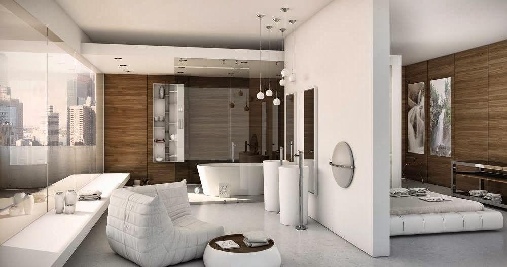 Bagno Aperto In Camera : Soluzioni per il bagno aperto in camera da letto