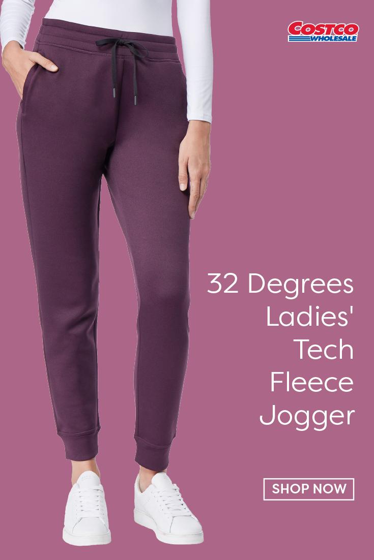 32 Degrees Ladies Tech Fleece Jogger Fleece Joggers Tech Fleece Joggers