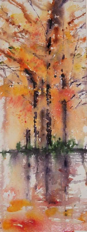 """Golden Fall"" Its' amazing how one painting or idea can quickly lead to many more. Having just painted a quick autumn study of the..."