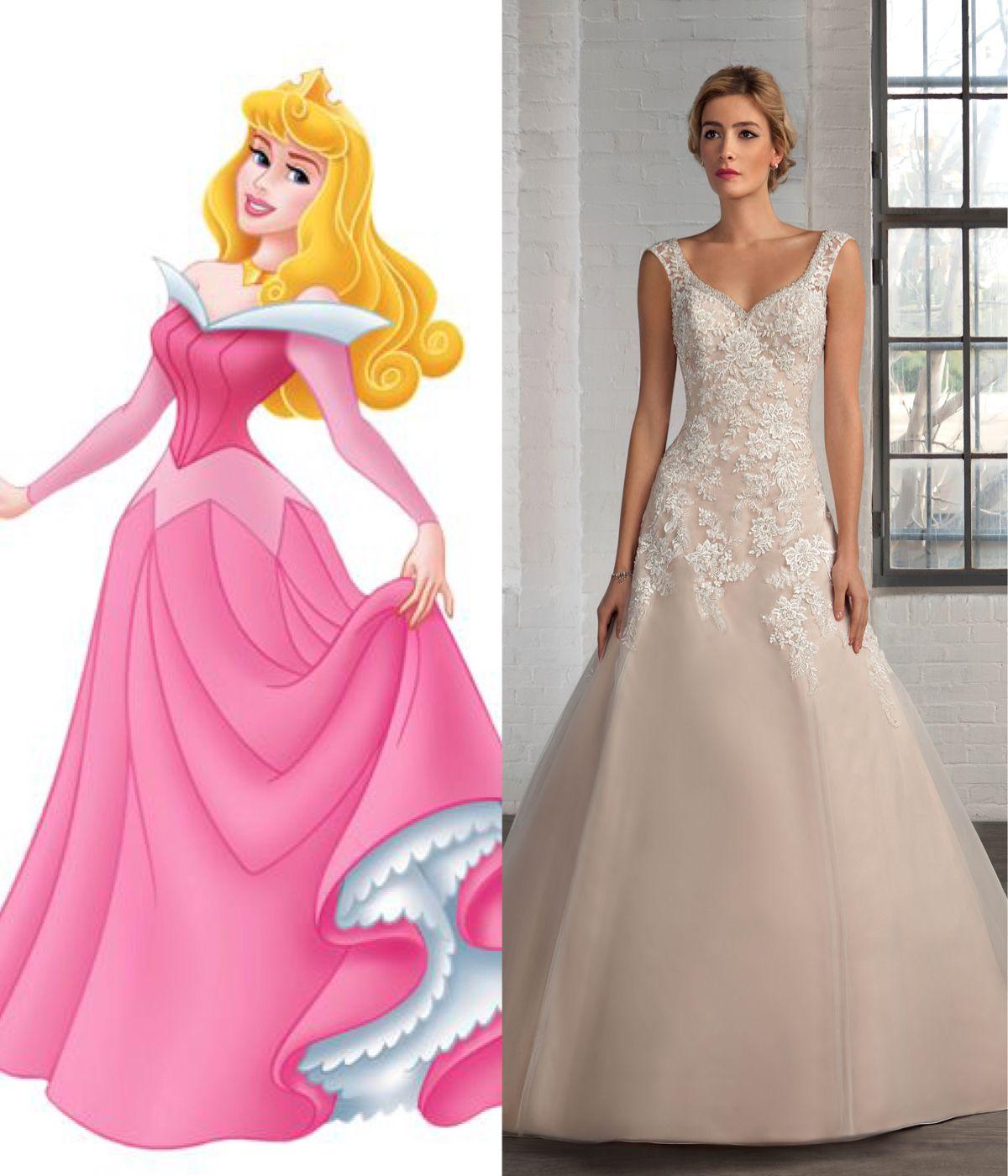 Modern wedding dresses for every Disney princess | Wedding dress ...