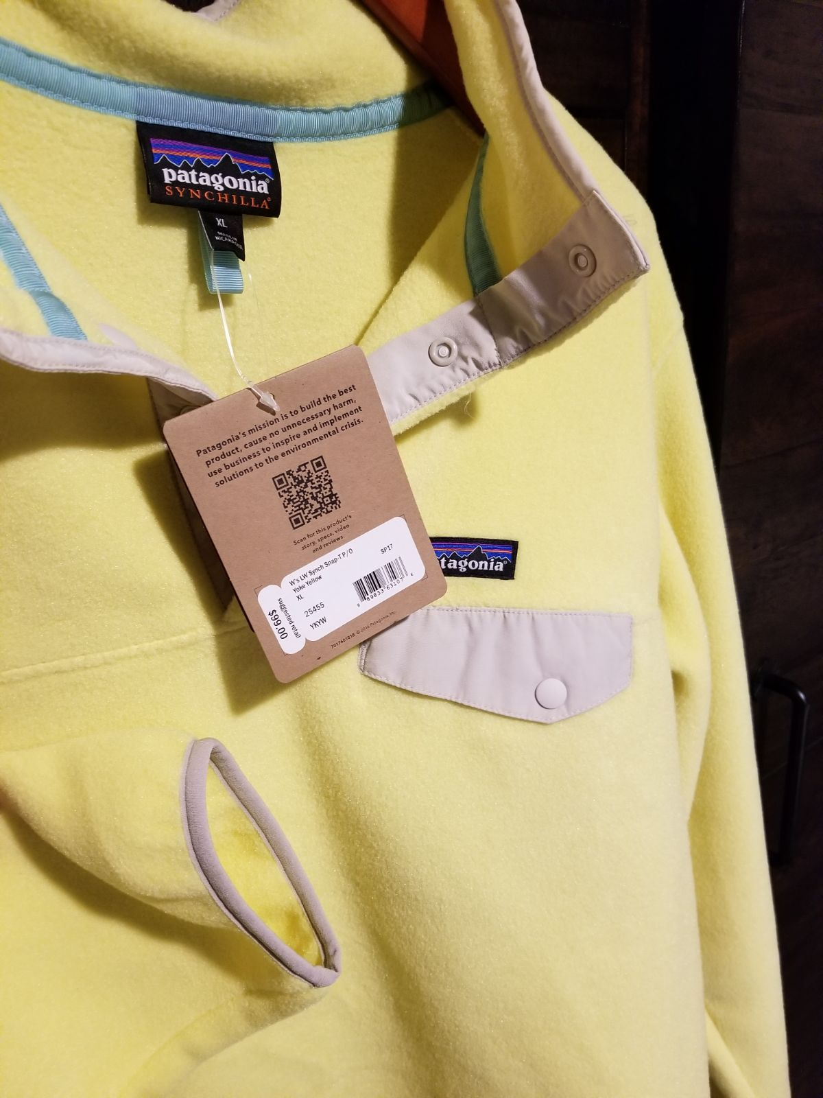 Patagonia Womens Synchilla Snap T Pullover Fleece Yoke Yellow Size Xl With 99 Tag Patagonia Fleece Jacket Patagonia Fleece Patagonia Womens