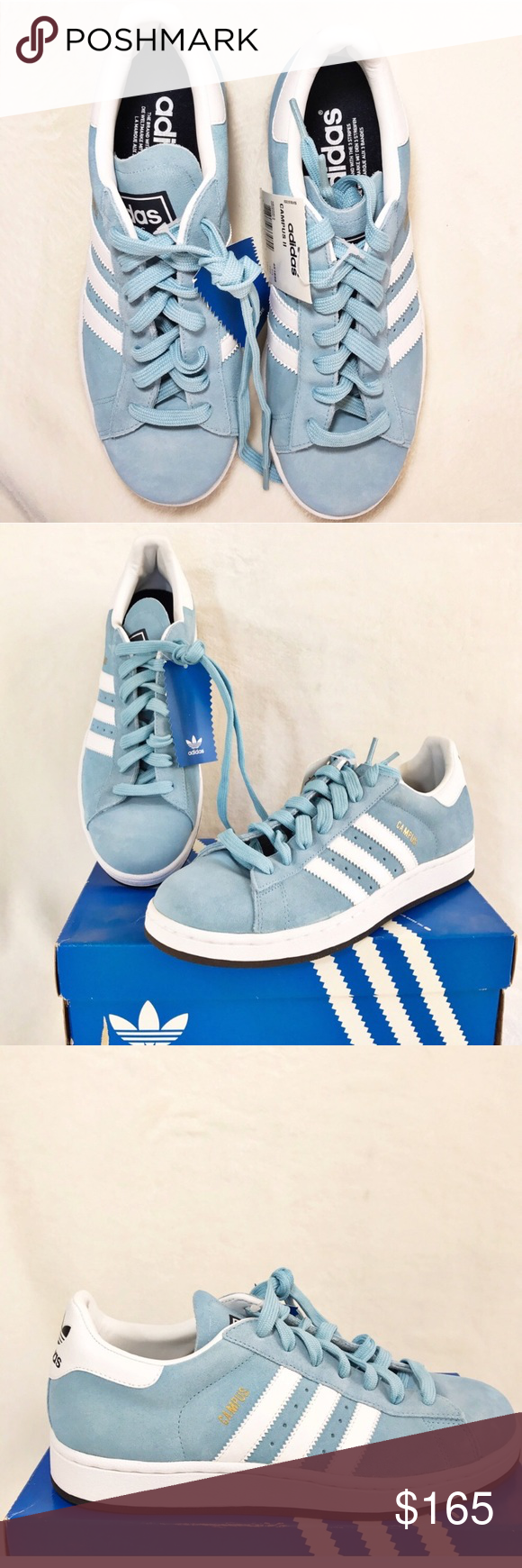 Adidas campus ii azzurre, campus 451696 nwt la posh sceglie
