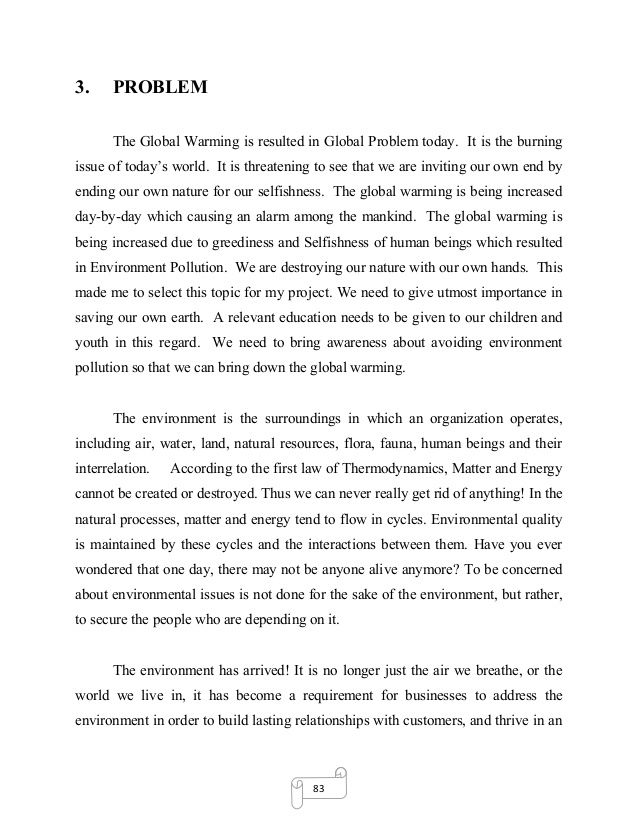 Short Essays On Environmental Pollution Essay Report Environment