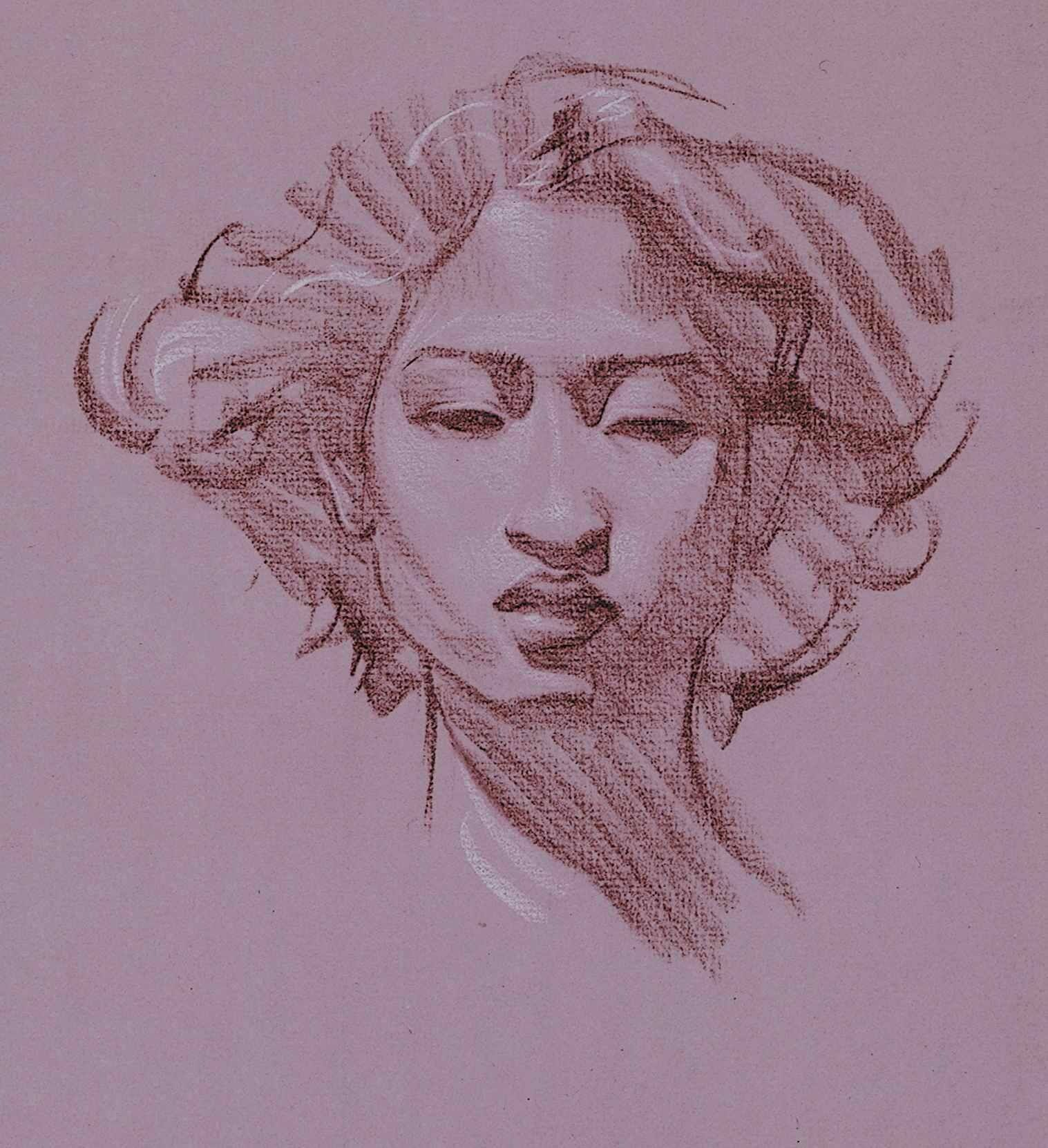 Steve Huston I Like The Design In Her Face In 2020 Drawings Portrait Drawing Figure Drawing
