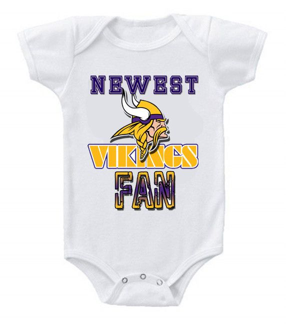 96583cf9bb0 NEW Football Baby Onesie Creeper Minnesota Vikings | Baby Clothes ...