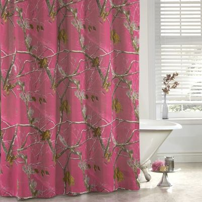 Realtree Ap Hot Pink Camo Shower Curtain Pink Shower Curtains