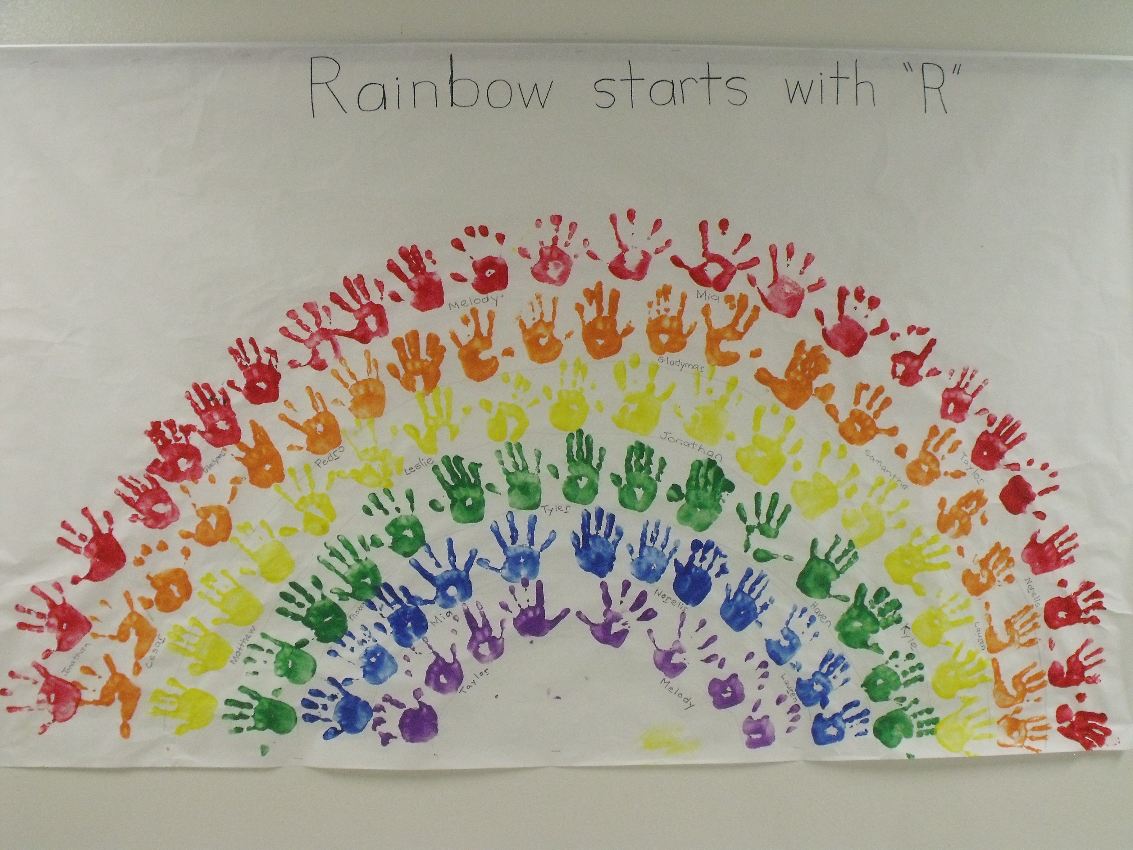 R is for Rainbow-Journal Page....dot markers instead