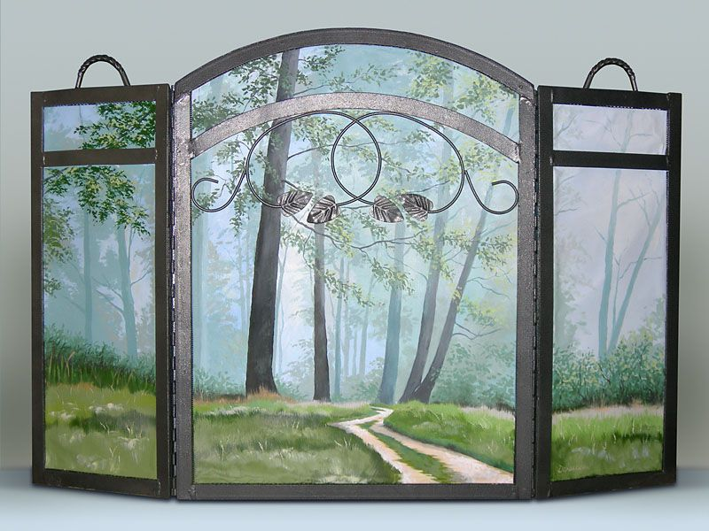 Repurposed fireplace screen mounted canvas panels painted as repurposed fireplace screen mounted canvas panels painted as gift for teraionfo