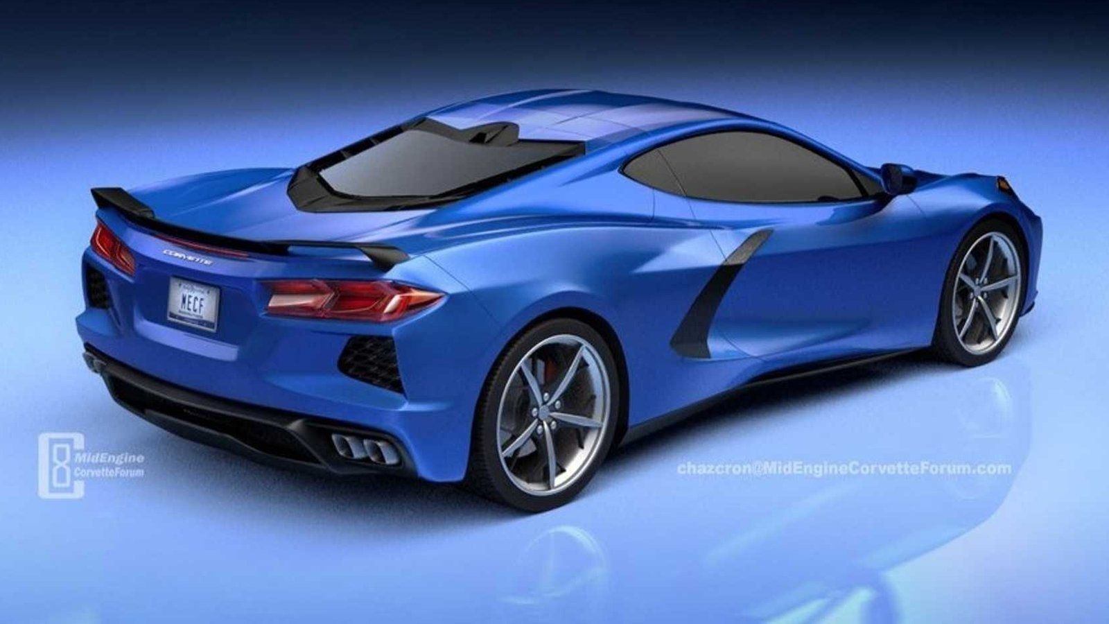 New Rendering Of The Mid Engined 2020 Chevy C8 Corvette Gives Us A More Down To Earth Look Sports Car Corvette Chevy Corvette