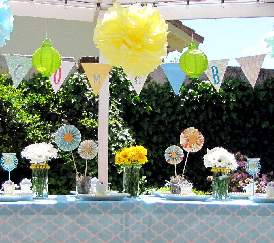Garden baby shower decor - Baby Shower Decorations