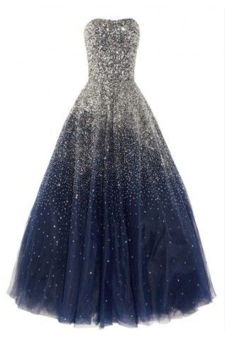 Backless Prom Dress #blue