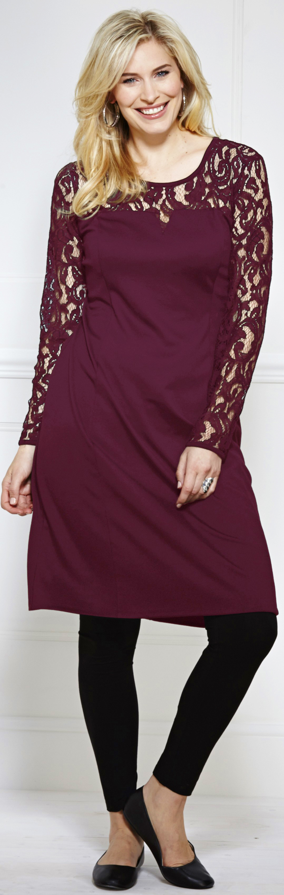 1da74f3d5e5 Berry (dark red) coloured dress for a casual party outfit - Marisota - http