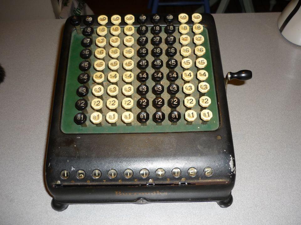 Antique Vintage Burroughs Calculator Adding Machine