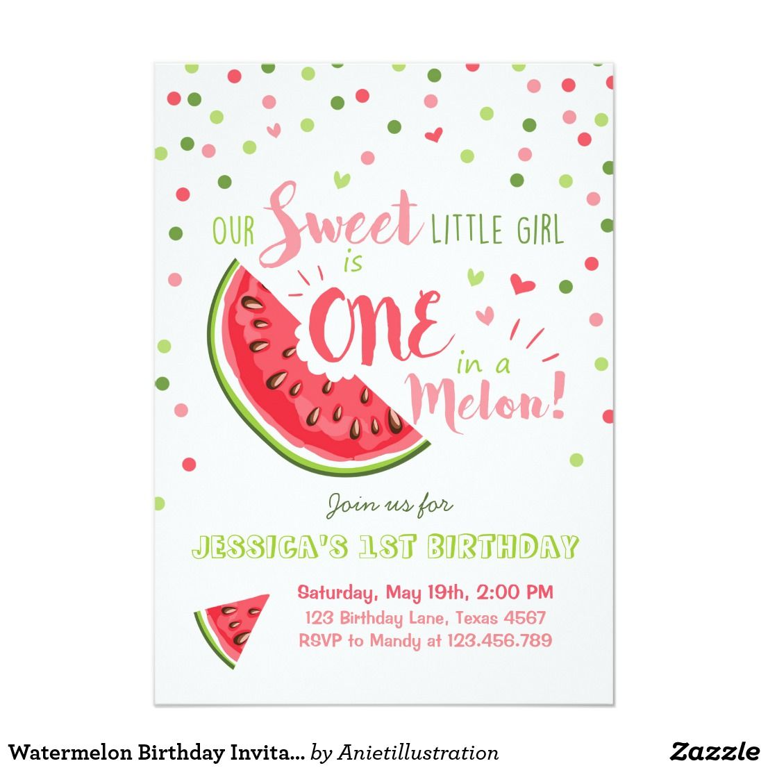 watermelon birthday invitation melon summer party melon party