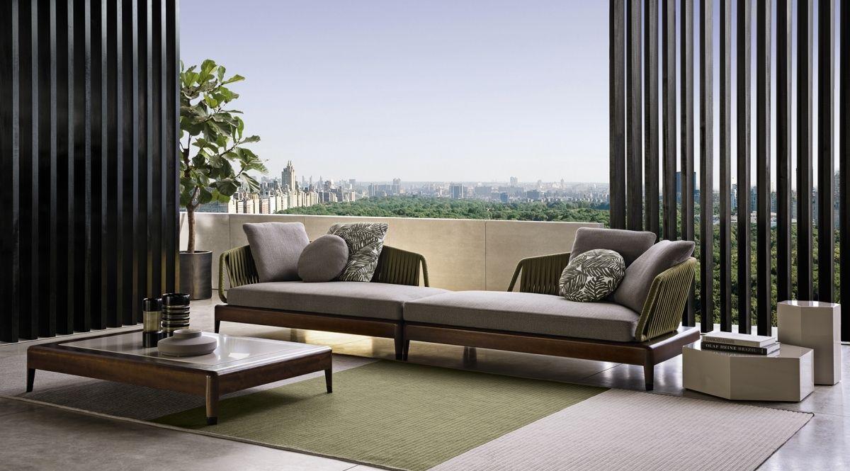 De Indiana sofa van Minotti is gelanceerd op de Salone del Mobile Milaan in  2016 en